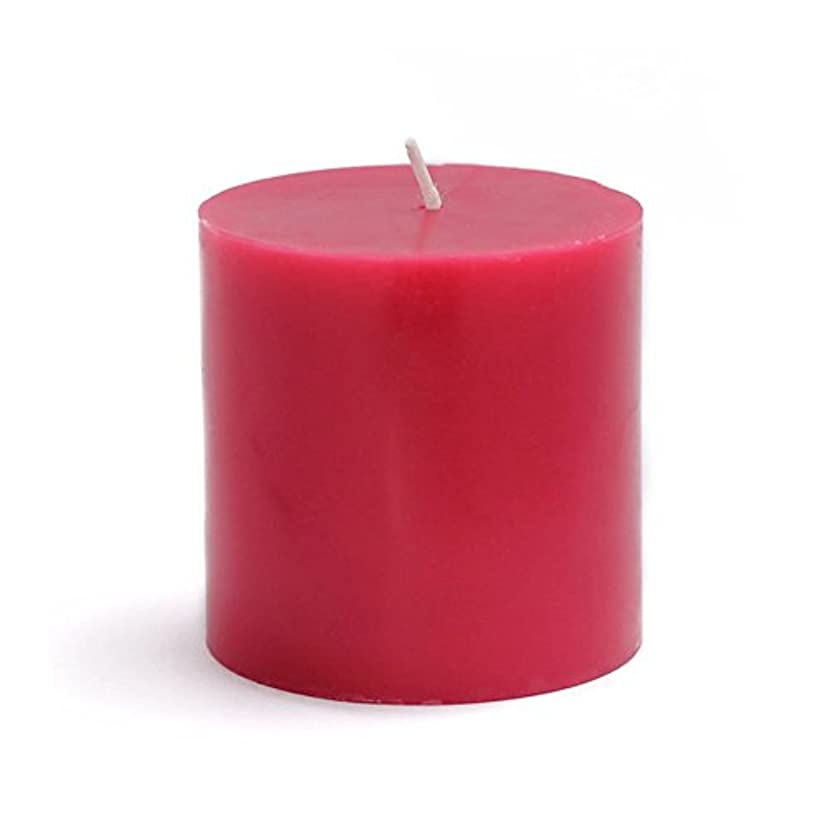 ピアノを弾くフォルダ服を洗うZest Candle Pillar Candle, 3 by 3-Inch, Red [並行輸入品]