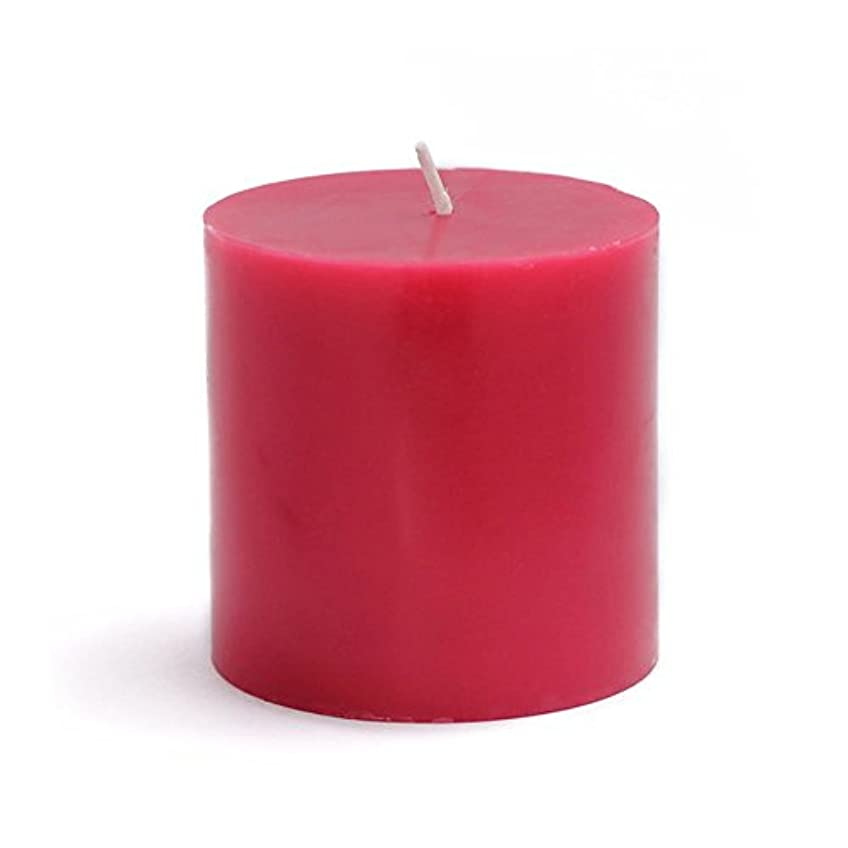 重要な代替脆いZest Candle Pillar Candle, 3 by 3-Inch, Red [並行輸入品]