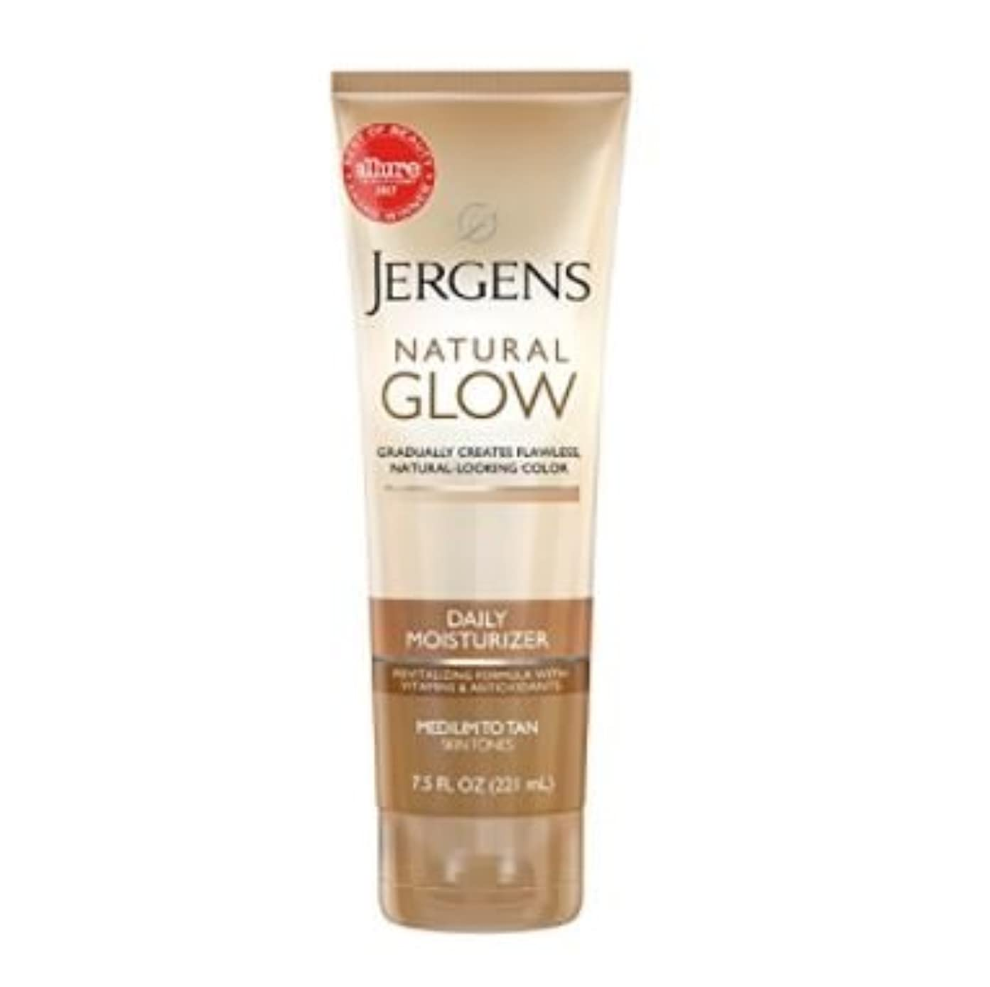 メーカー空港蓮ジャーゲンス【221ml】塗るだけでキレイなブロンズ肌! セルフタンニングローション Jergens Natural Glow ジャーゲンズ (Medium/Tan 普通肌の方用)