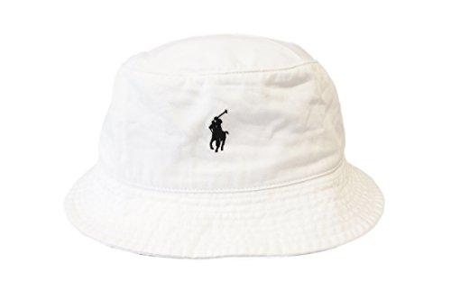 (ポロ ラルフローレン)POLO Ralph Lauren バケットハット 帽子 キャップ メンズ レディース ポニーマーク ホワイト S/M [並行輸入品]