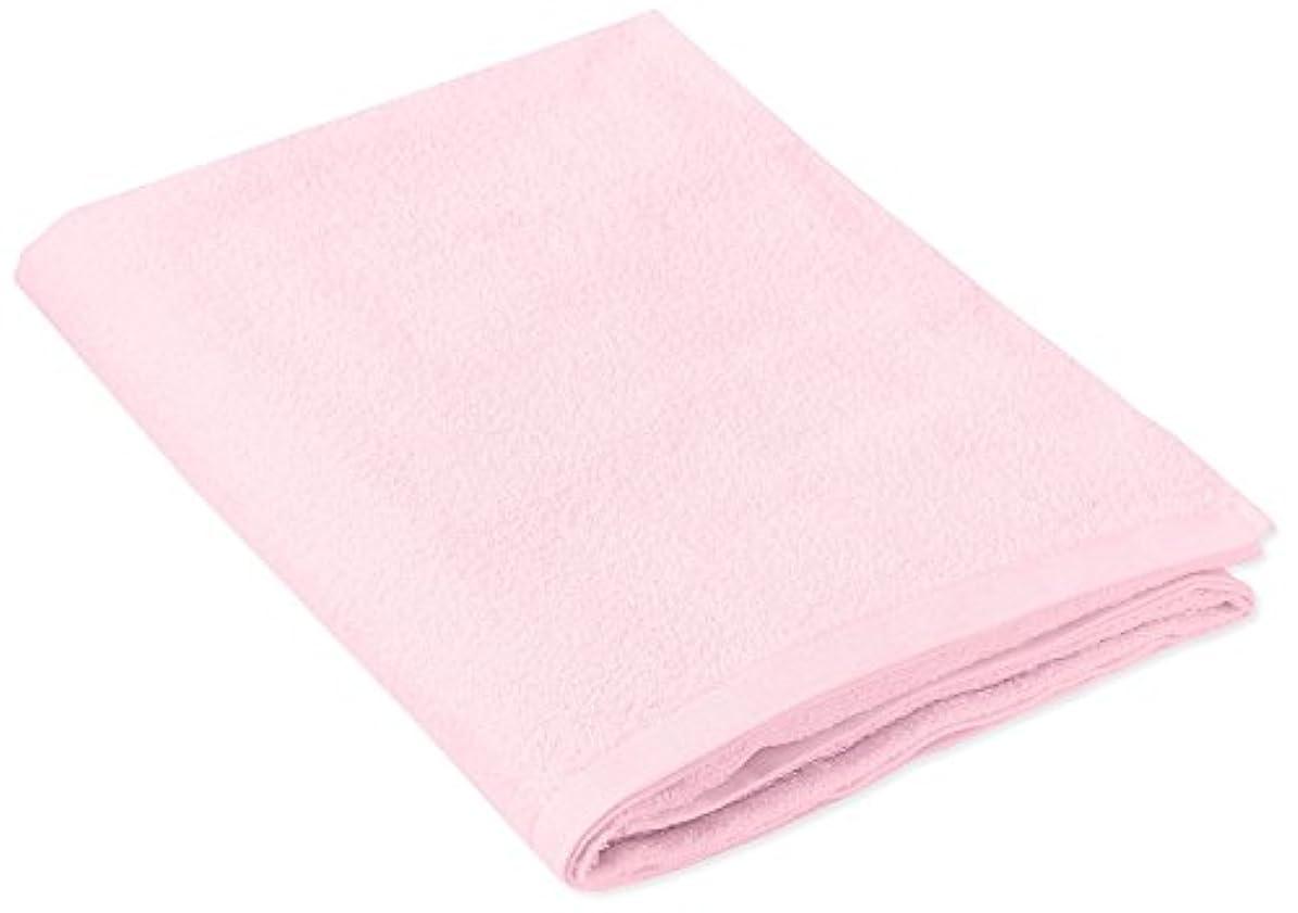 囚人ナイロン甘やかすキヨタ 抗菌介護タオル(大判タオル1枚入) ピンク 80×135cm