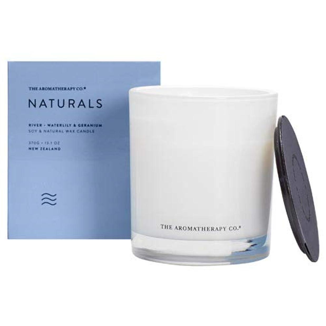 テーブルきらめく評論家アロマセラピーカンパニー(Aromatherapy Company) new NATURALS ナチュラルズ Candle キャンドル River リバー(川) Waterlily & Geranium ウォーターリリー...
