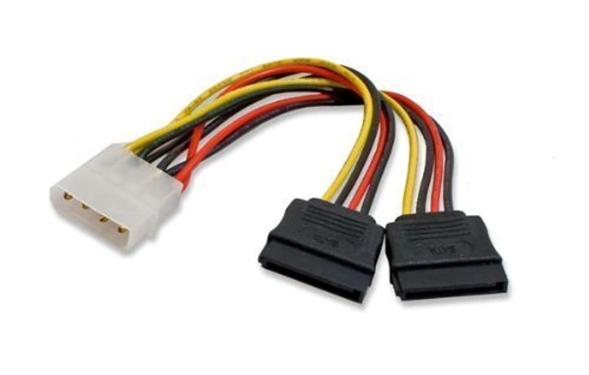 連結する腹部アーティファクトImporter520 Molex 4 Pin to 2 x 15 Pin SATA Power Cable for IDE to Serial ATA SATA Hard Drive Power Cable Adapter (5 Pack) [並行輸入品]