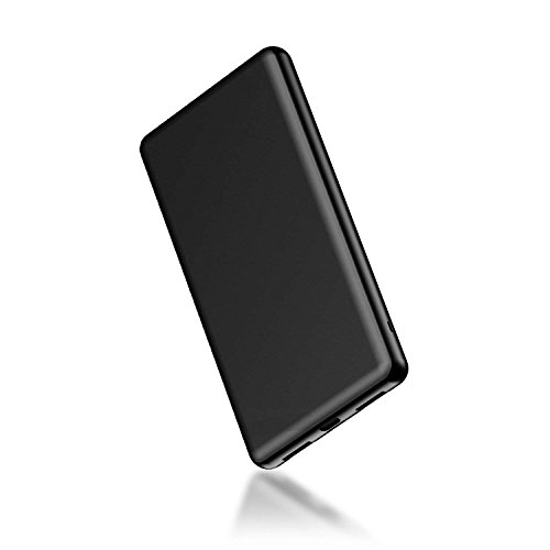 MOXNICE モバイルバッテリー 10000mAh 軽量 薄型 小型 金属 急速充電 大容量 iPhone&Android対応(ブラック)
