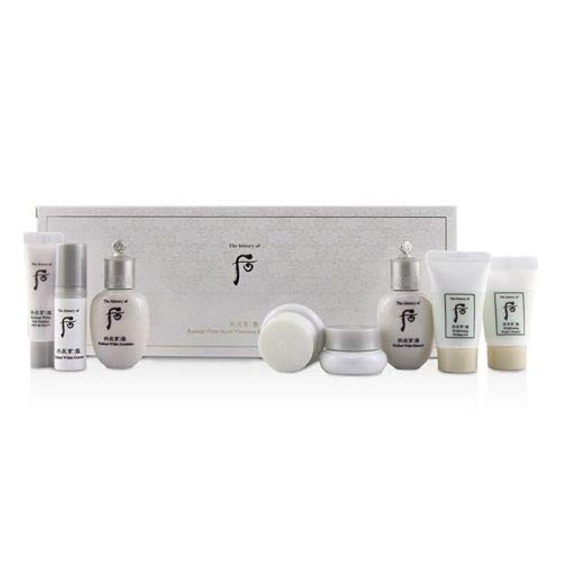 建物こどもセンター発掘后 (The History Of 后) Gongjinhyang Seol Radiant Whitening 8 pcs Gift Set: Balancer 20ml + Emulsion 20ml + Essence...