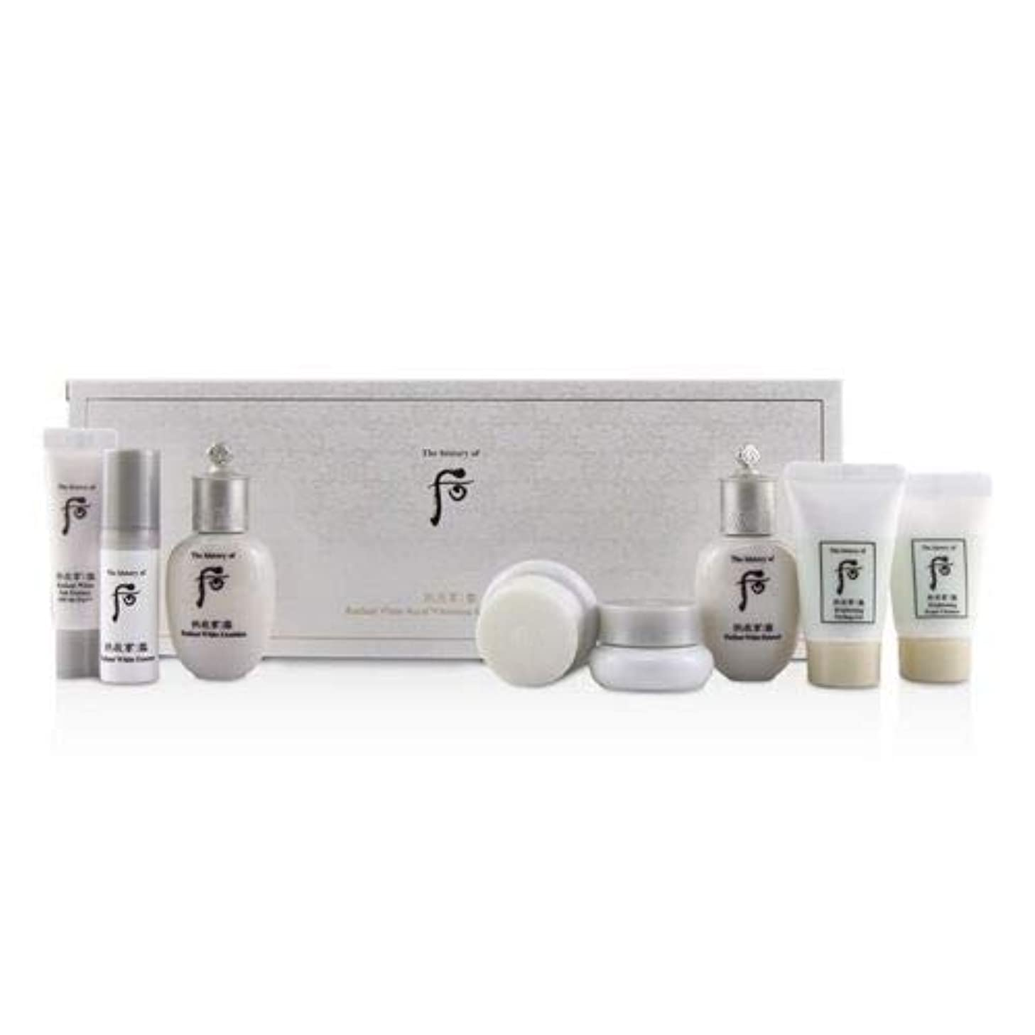 后 (The History Of 后) Gongjinhyang Seol Radiant Whitening 8 pcs Gift Set: Balancer 20ml + Emulsion 20ml + Essence...