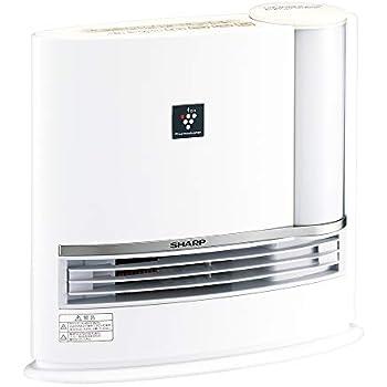 シャープ プラズマクラスター搭載 加湿機能付 セラミックファンヒーター ホワイト HX-H120-W
