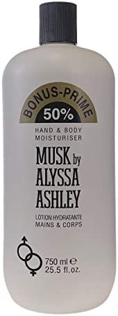 Alyssa Ashley Hand & Body Moisturiser, Musk, 7