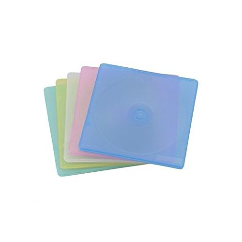 FW72491 CD&DVDスリムケース2枚収納 5パック