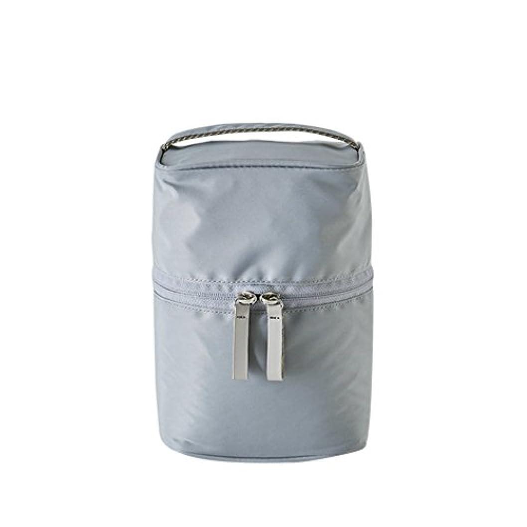 成熟フロー惑星ithinkso VERTICAL MAKE-UP BOX 縦に収納できるボックスタイプ化粧ポーチ 化粧水 トラベル 旅行 (グレー)