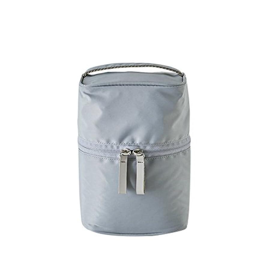 褐色認可ぶどうithinkso VERTICAL MAKE-UP BOX 縦に収納できるボックスタイプ化粧ポーチ 化粧水 トラベル 旅行 (グレー)