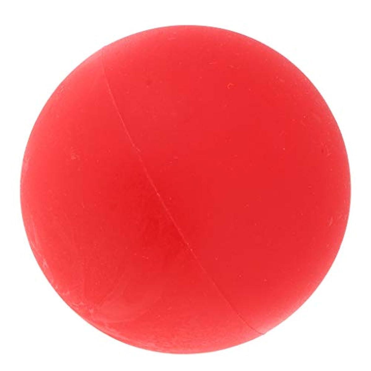 シャトル機会促すマッサージボール ヨガボール トリガーポイント 筋膜リリース 緊張緩和 健康グッズ 全4色 - 赤