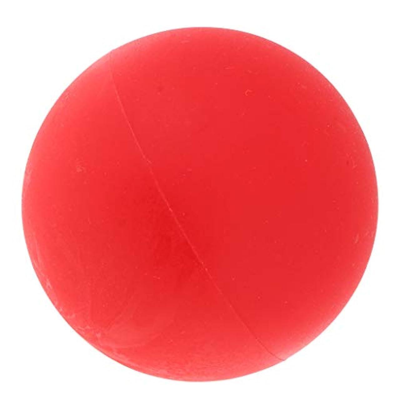 配るベッドを作る滑るマッサージボール ヨガボール トリガーポイント 筋膜リリース 緊張緩和 健康グッズ 全4色 - 赤