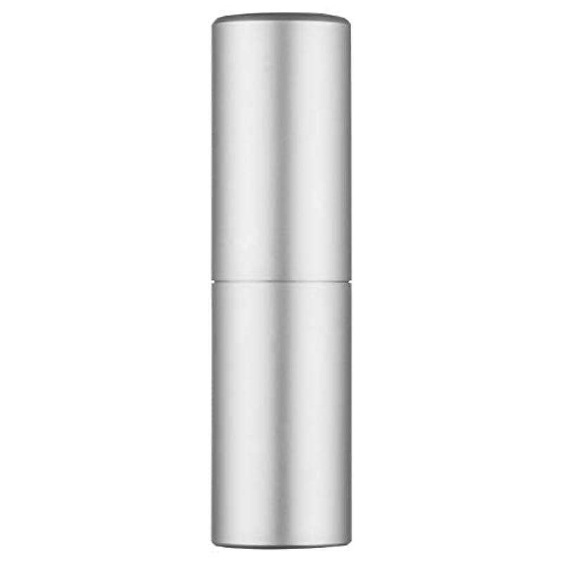 ブロック換気層アトマイザー 香水ボトル 香水瓶 20ml 詰め替え容器 レディース スプレーボトル ミニ漏斗付き (シルバー)