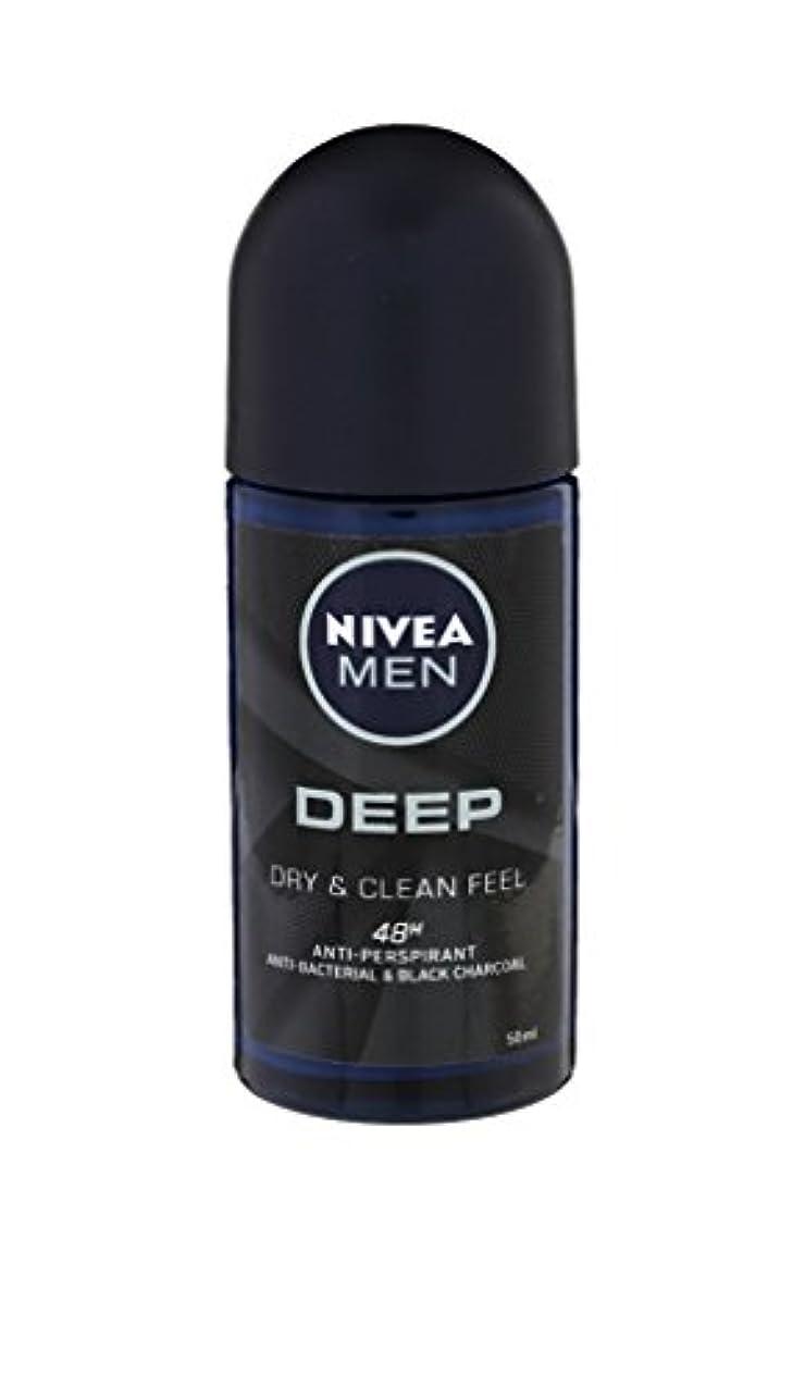 サークルファントムはしごNivea Deep Anti-perspirant Deodorant Roll On for Men 50ml - ニベア深い制汗剤デオドラントロールオン男性用50ml