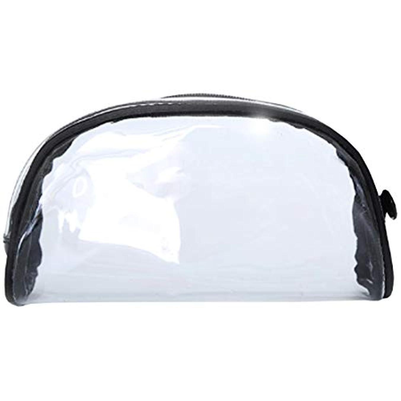もう一度ポゴスティックジャンプ改善化粧ポーチ クリアポーチ 透明ポーチ クリアボックス ビニールポーチ PVC 化粧品収納 小物入れ 防水 (S)