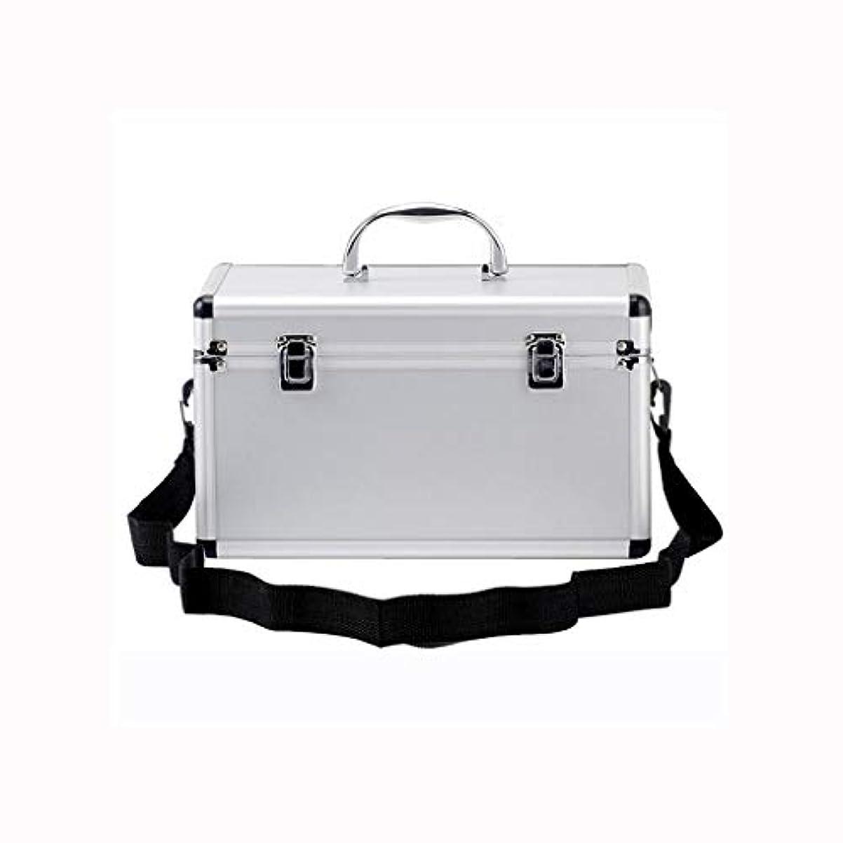 ビヨン重要な嫌なアルミ救急箱二層医療ボックス家庭用薬ボックスポータブル薬収納ボックス AMINIY