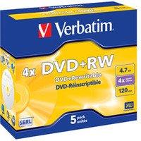 VERBATIM DVDPLUSRW 4X 43229 PK 5