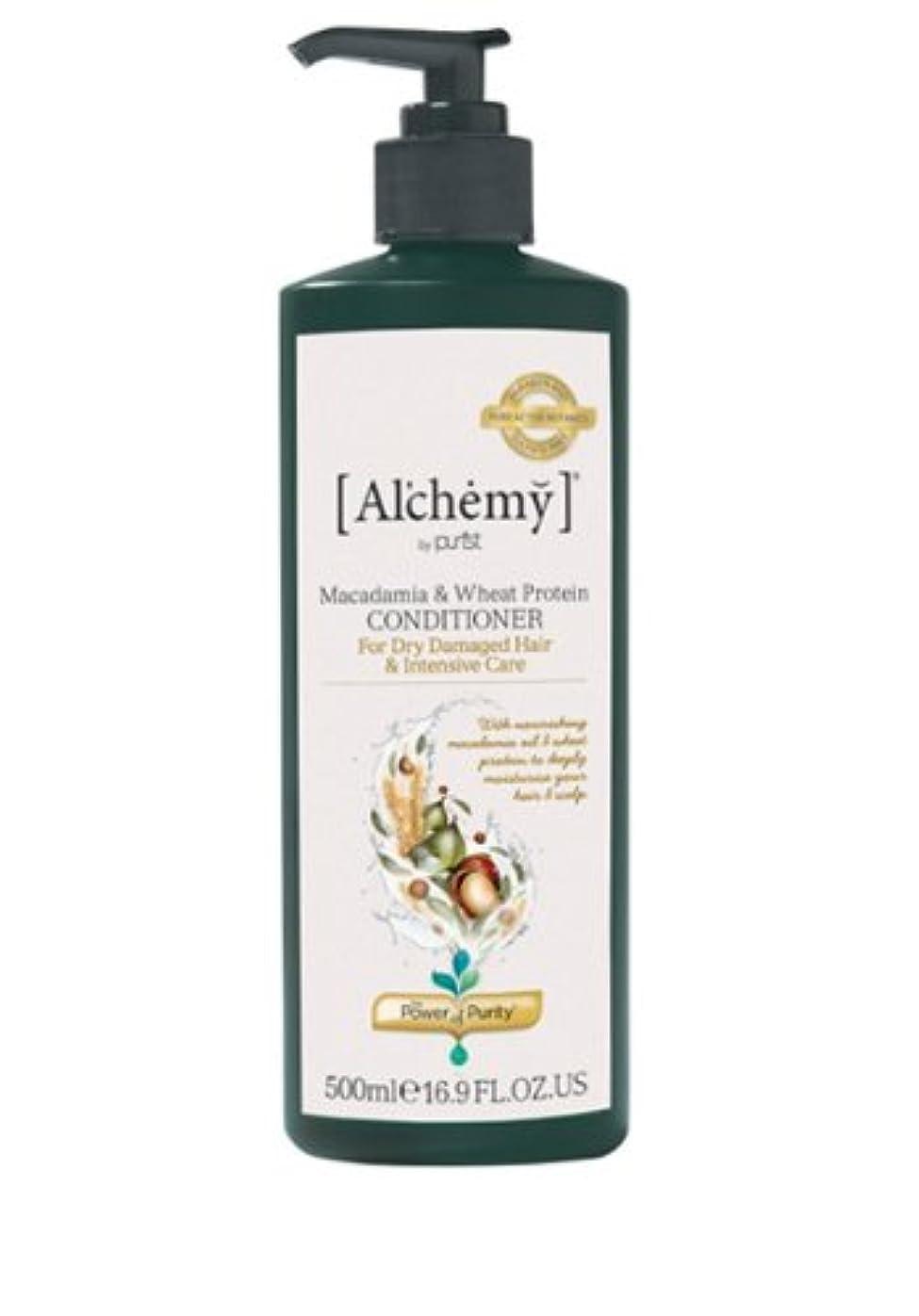 ドーム知覚する嵐の【Al'chemy(alchemy)】アルケミー マカダミア&ホイート(小麦) コンディショナー(Macadamia & Wheat Protein Conditioner)(ドライ髪用)500ml
