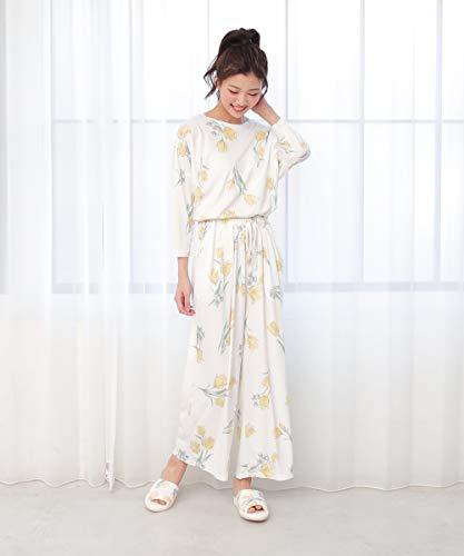 [ コクーニスト ] Cocoonist チューリップ柄巾着付きパジャマセット イエロー
