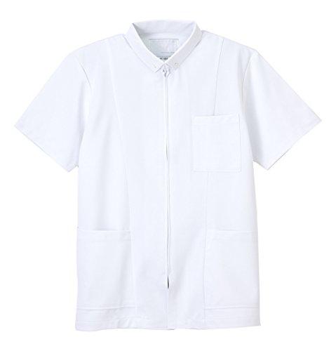 ナガイレーベン ナガイレーベン 男子上衣(医務衣 ボタンダウンジャケット) 半袖 ホワイト L HO-1957