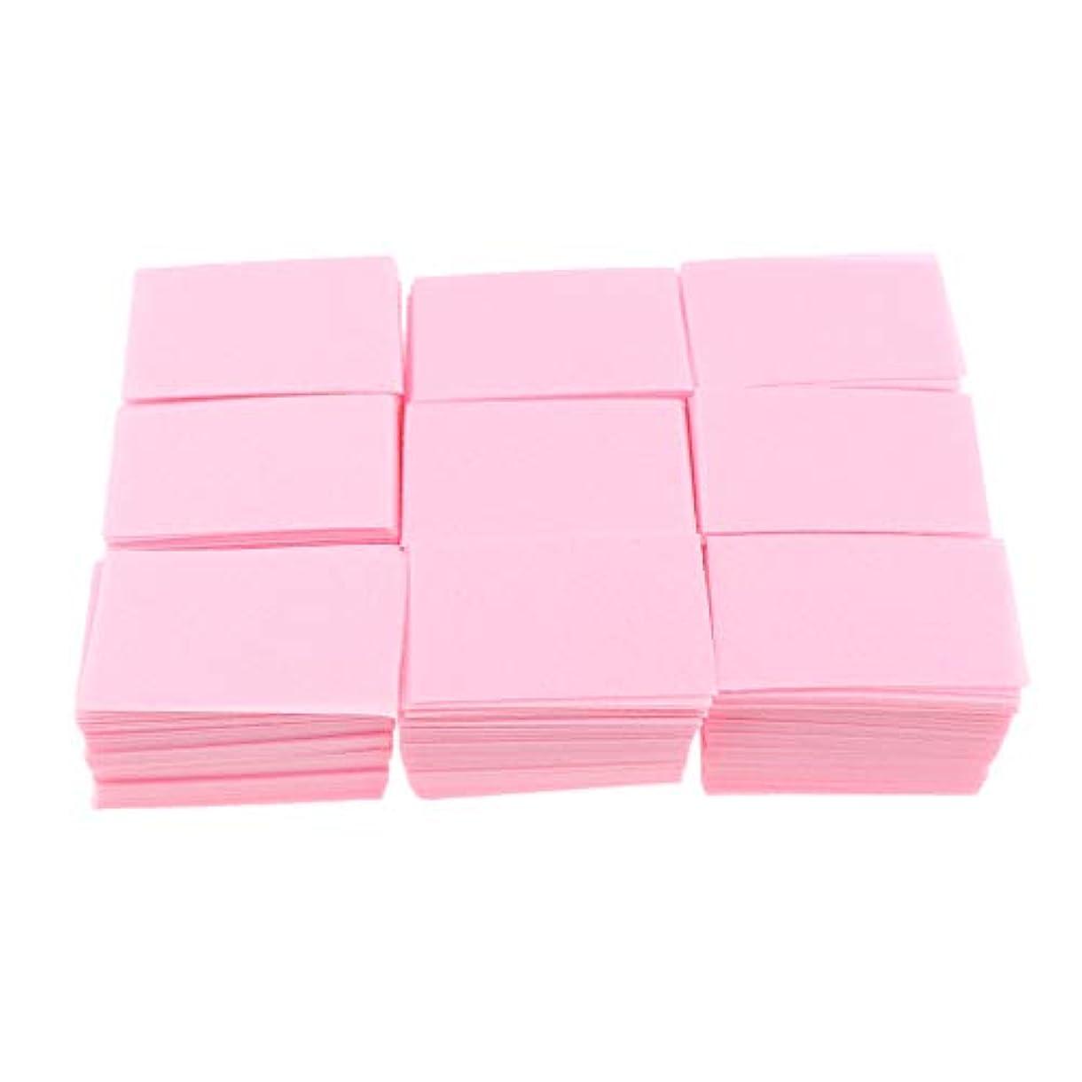 担保拍車最大のP Prettyia 約700枚 ネイルポリッシュリムーバー 綿パッド 2色選べ - ピンク