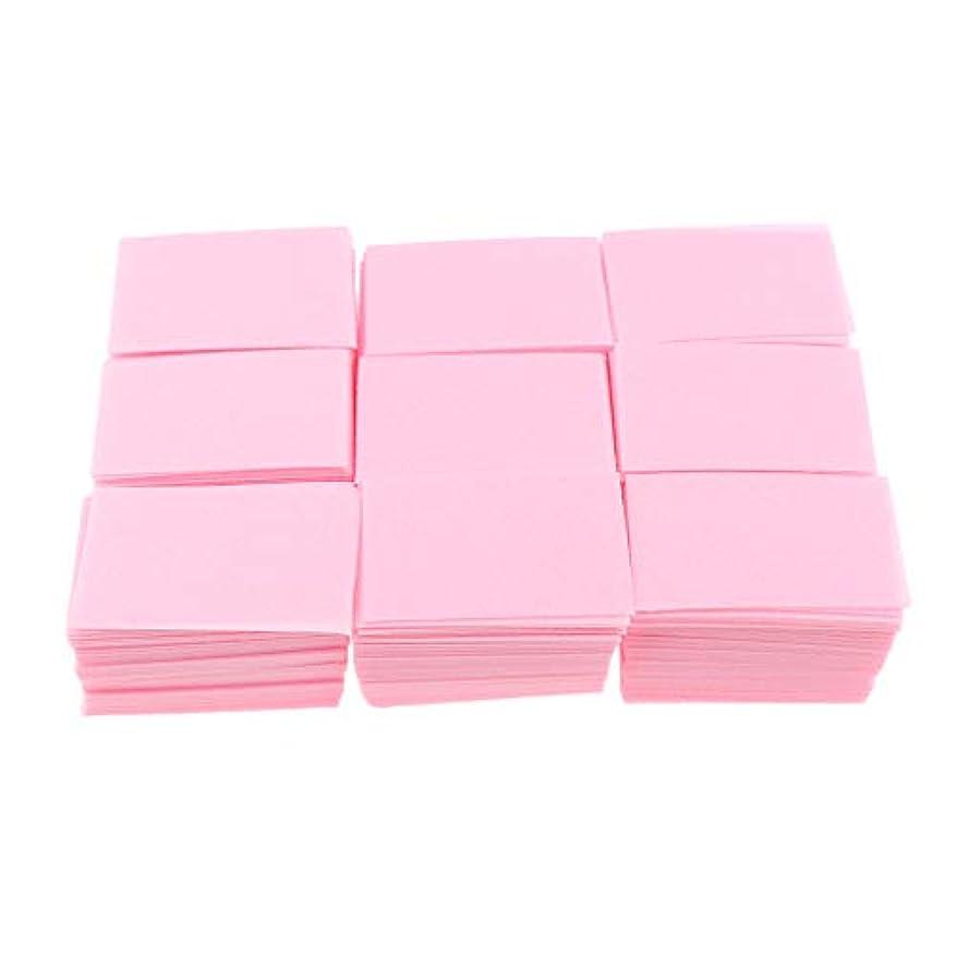 P Prettyia 約700枚 ネイルポリッシュリムーバー 綿パッド 2色選べ - ピンク