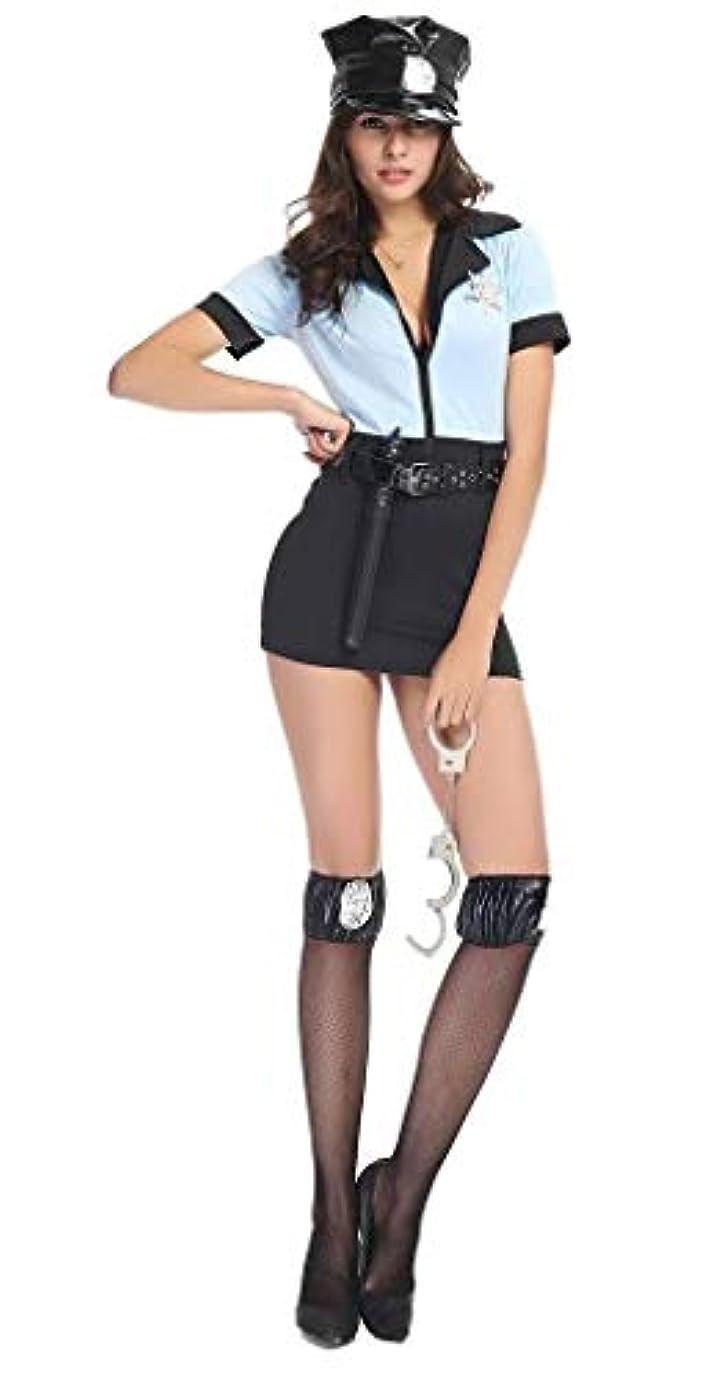 ムスタチオしなやかな補体(ウォ2U) Woo2u コスプレ衣装 ハロウィン衣装 仮装 コスチューム レディース 警察 婦人警官 パーティー ライトブルー