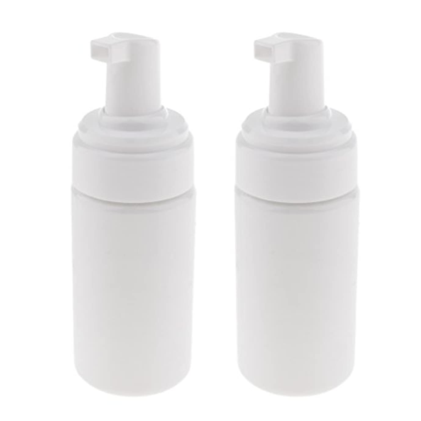 ジョージスティーブンソンつかの間冷えるPerfk 2個 フォームボトル ディスペンサー ソープボトル 石鹸ディスペンサー ポンプボトル 100ml 泡立て ボトル 発泡 3色選べる - 白