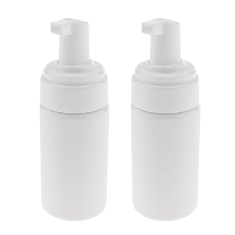 スパークスイス人エキゾチックPerfk 2個 フォームボトル ディスペンサー ソープボトル 石鹸ディスペンサー ポンプボトル 100ml 泡立て ボトル 発泡 3色選べる - 白