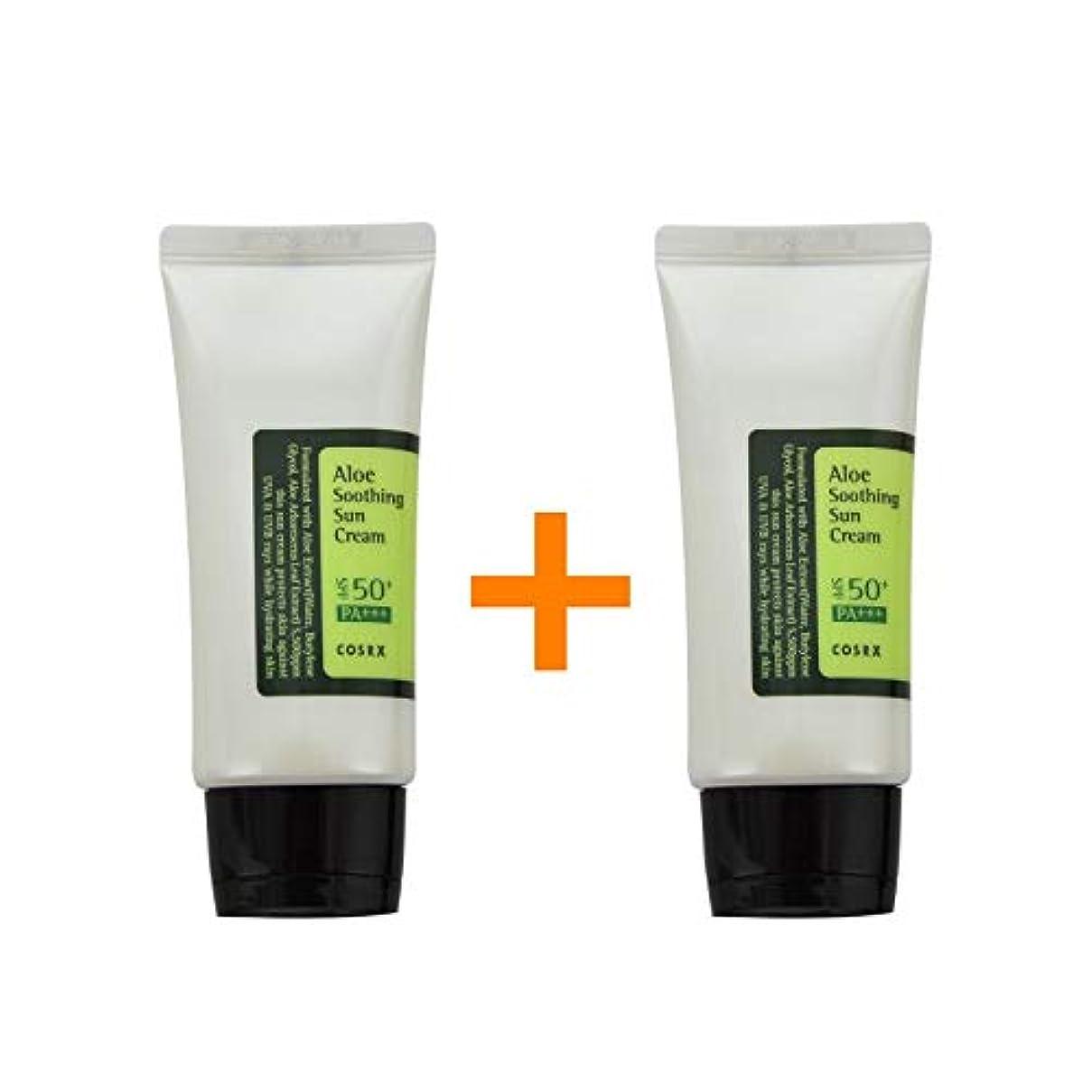 アクセスできない式ステレオタイプ[ 1 + 1 ] COSRX コースアールエックス アロエ スージング サンクリーム Aloe Soothing sun cream (50ml) SPF50+/PA+++ 韓国日焼け止め