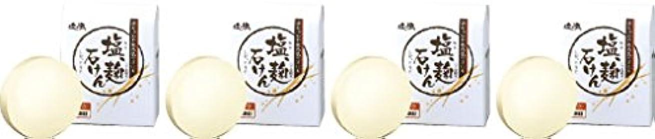 ダイム 塩の精 無添加 塩、麹石けん 80g 4個セット