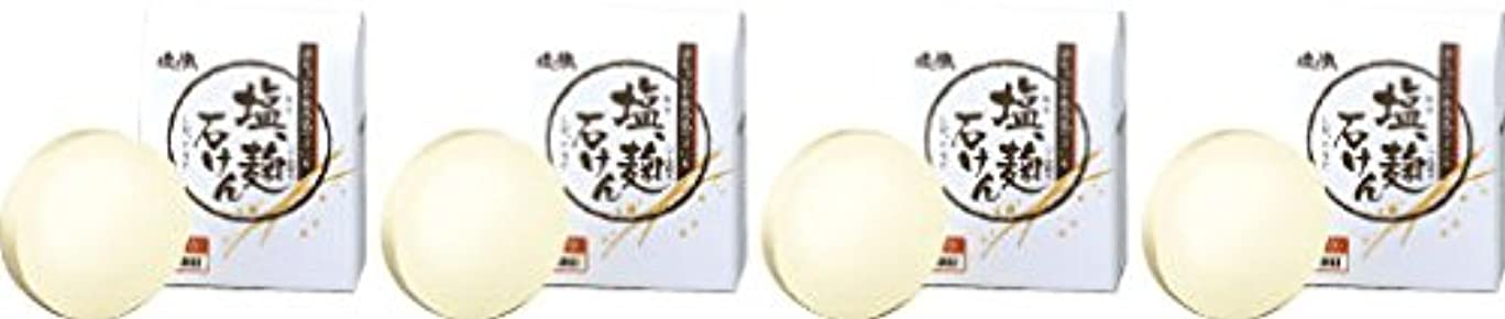 受付補助金禁止ダイム 塩の精 無添加 塩、麹石けん 80g 4個セット