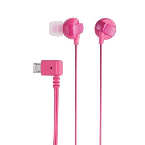 ELECOM スマートフォン用マイクロUSBヘッドホン カナルタイプ ピンク EHP-MBIN102PN