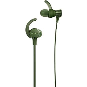 ソニー SONY イヤホン 重低音モデル MDR-XB510AS : 防水/スポーツ向け リモコン・マイク付き グリーン MDR-XB510AS G