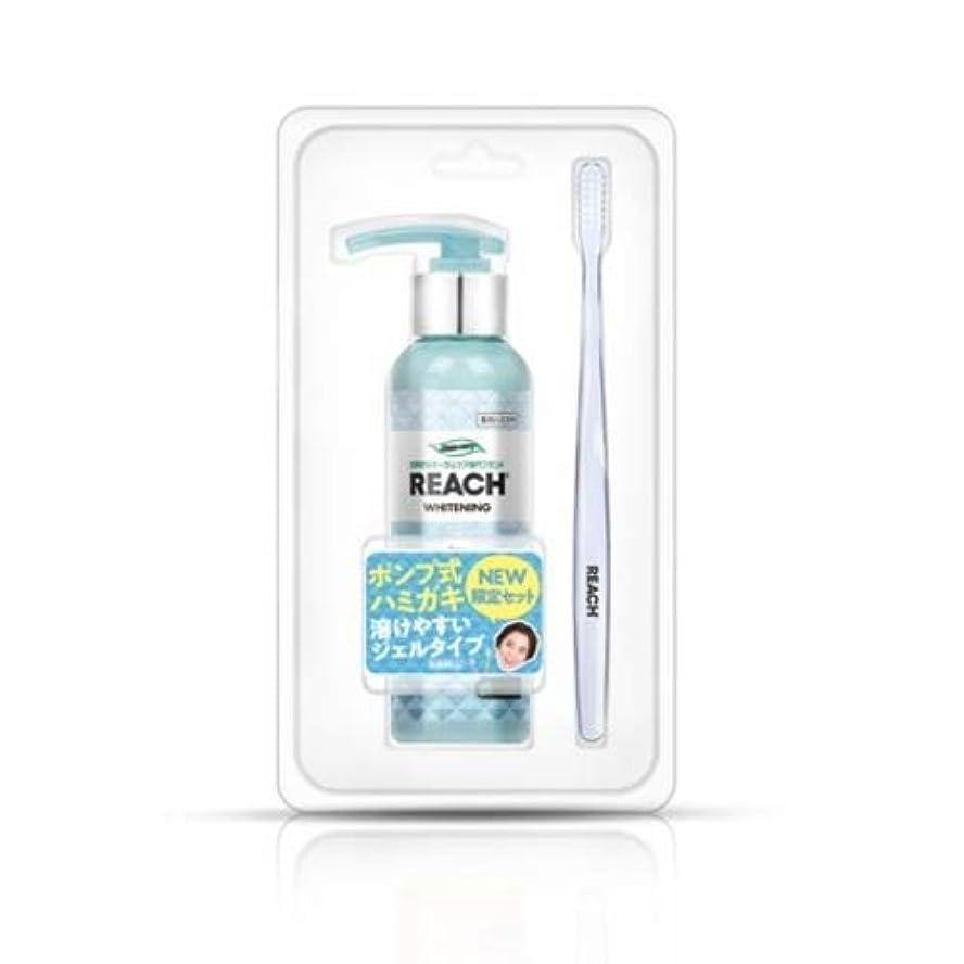 コマースめる極地リーチ ポンプ式歯みがき(グリーングレープ)歯ブラシ付セット