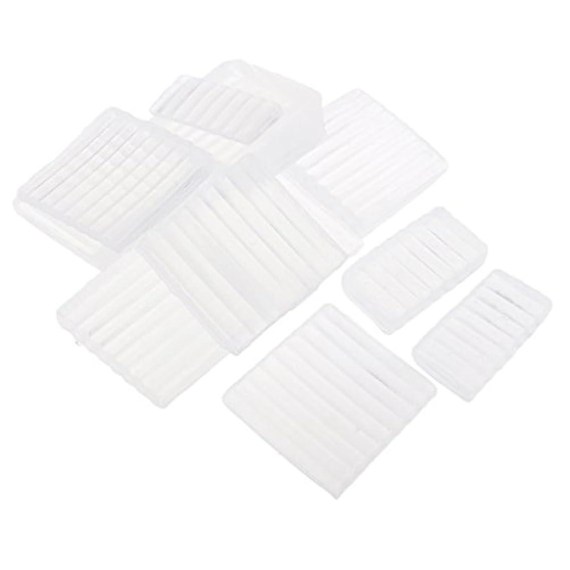 恥ずかしさ知恵スピリチュアルFenteer ホワイト 透明 石鹸ベース DIY 手作り 石鹸 材料 約500g