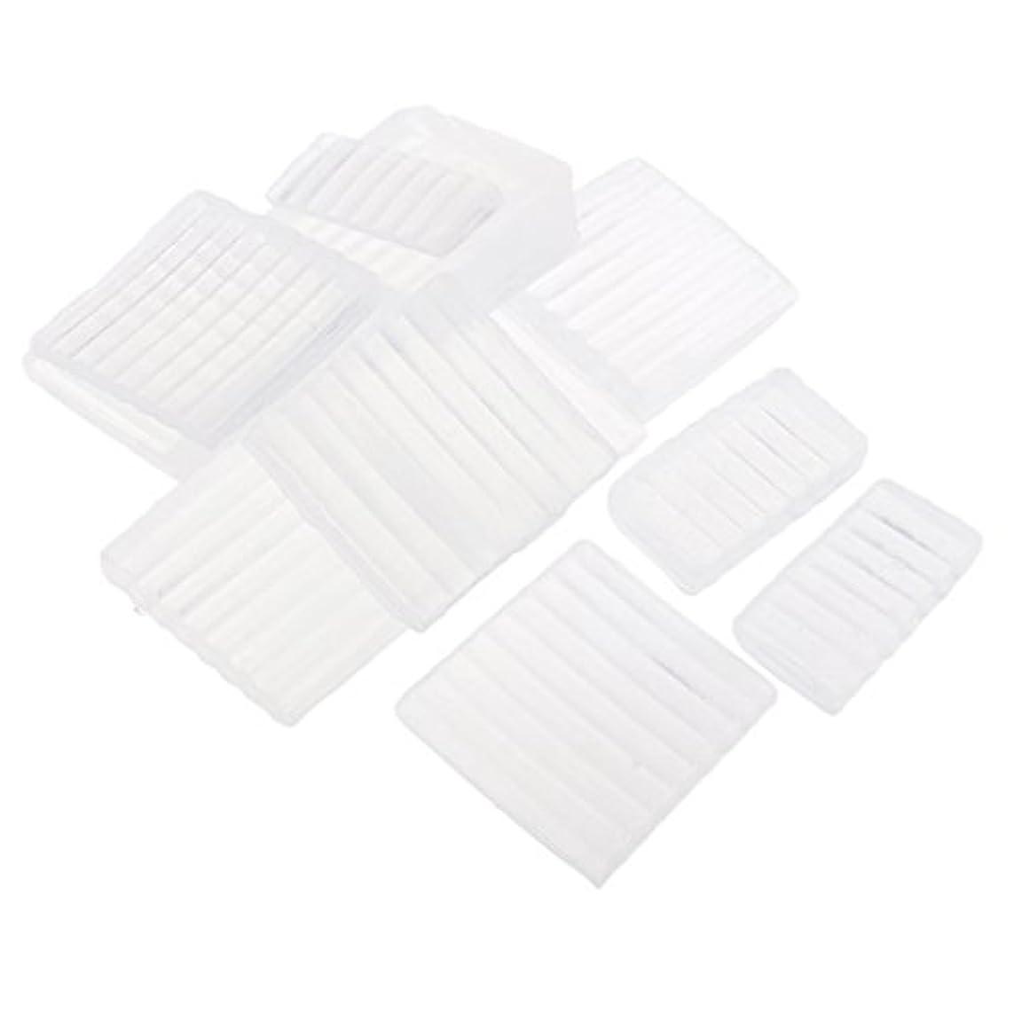 Fenteer ホワイト 透明 石鹸ベース DIY 手作り 石鹸 材料 約500g