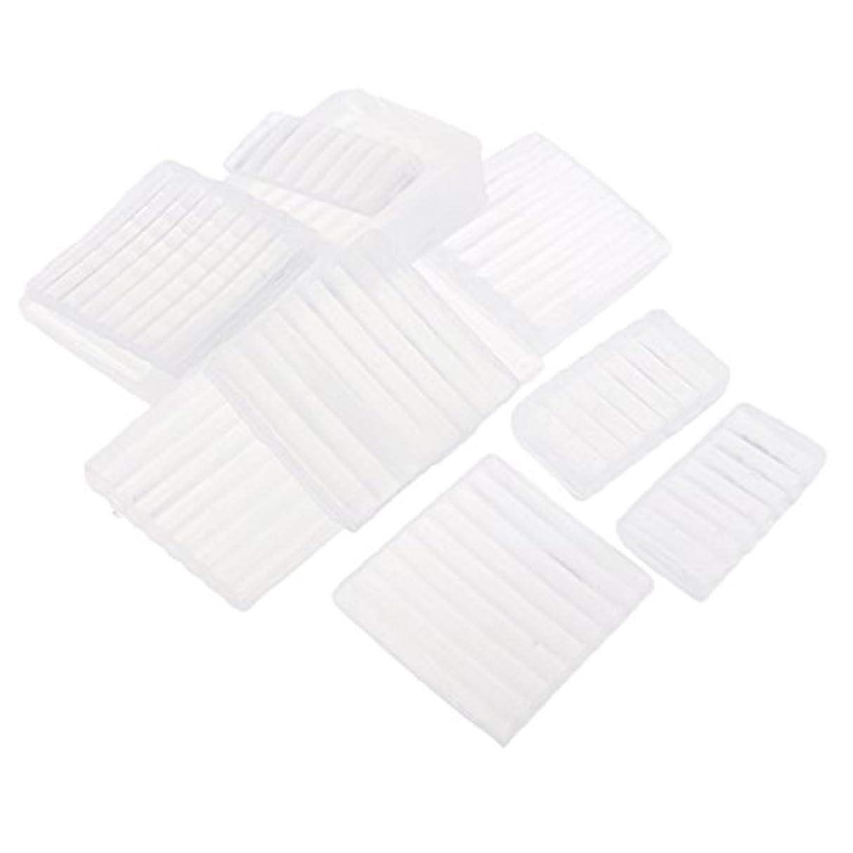ひねり薄暗い心のこもったFenteer ホワイト 透明 石鹸ベース DIY 手作り 石鹸 材料 約500g