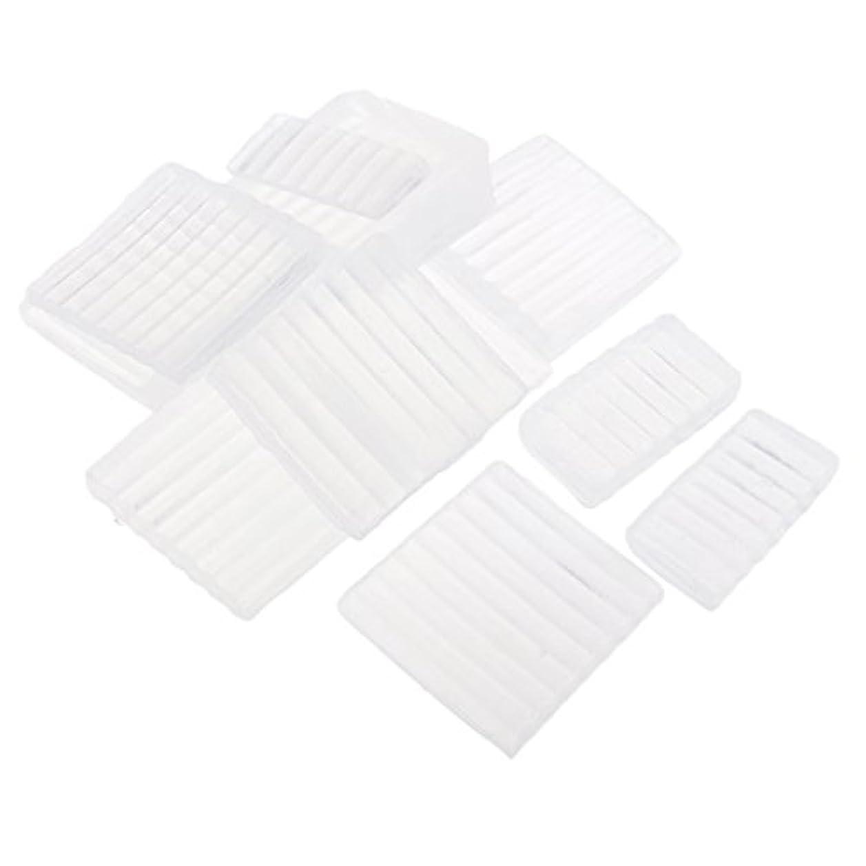有用ブラウン刈るFenteer ホワイト 透明 石鹸ベース DIY 手作り 石鹸 材料 約500g