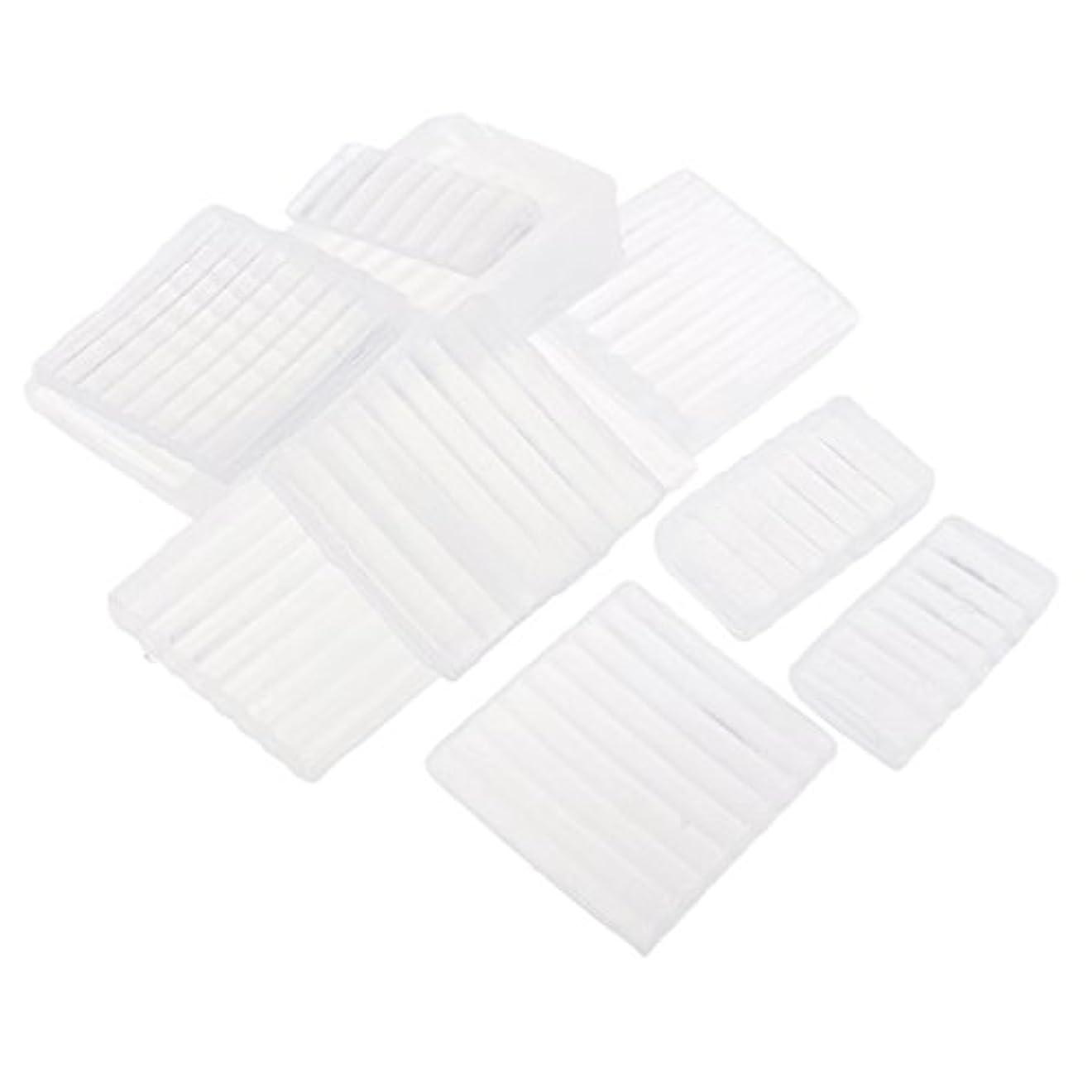 アスレチック掃除メトロポリタンFenteer ホワイト 透明 石鹸ベース DIY 手作り 石鹸 材料 約500g