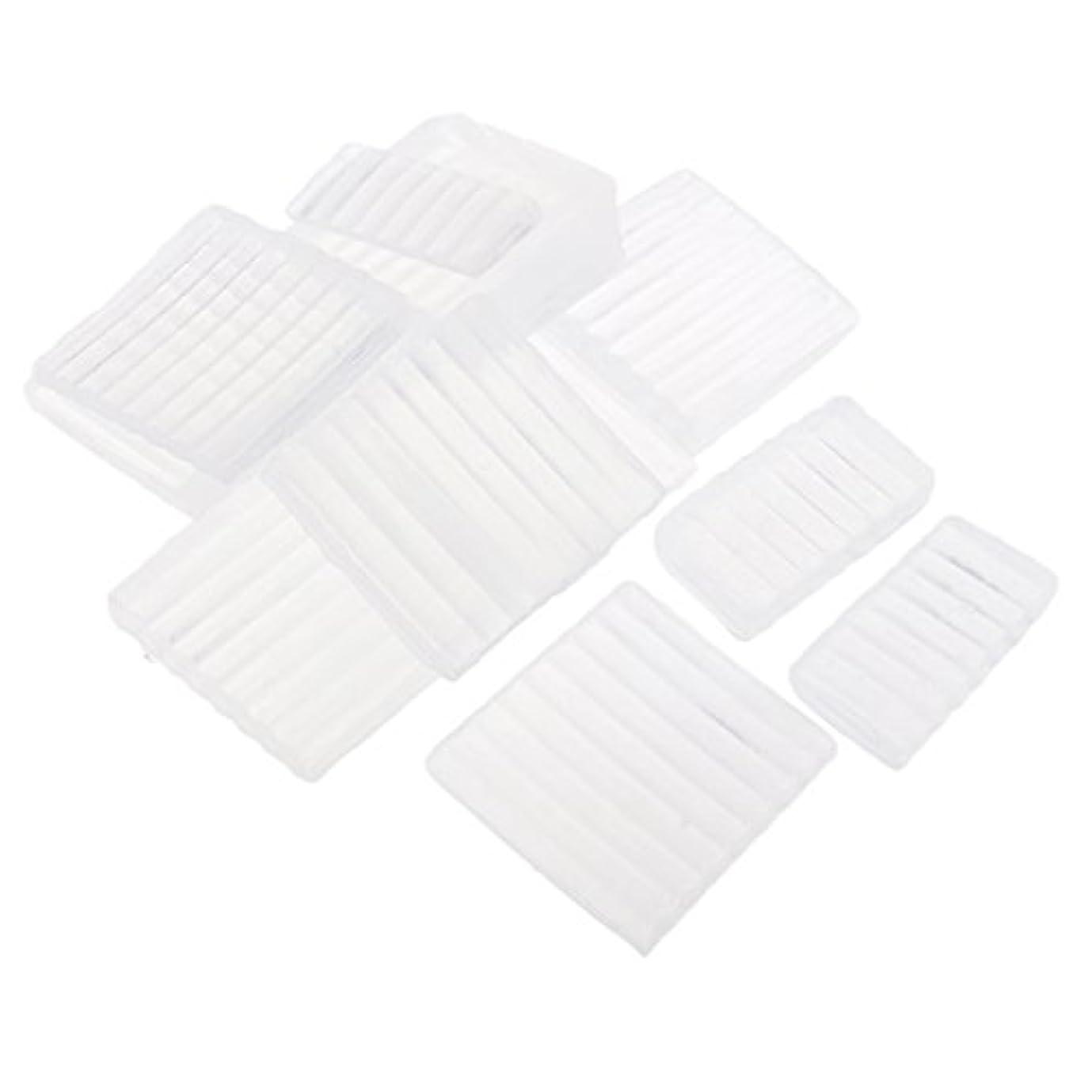 ドラフト絞る積極的にFenteer ホワイト 透明 石鹸ベース DIY 手作り 石鹸 材料 約500g