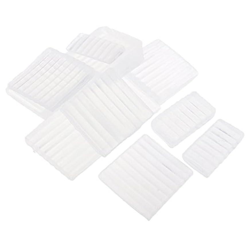 クレジット脅迫借りるFenteer ホワイト 透明 石鹸ベース DIY 手作り 石鹸 材料 約500g