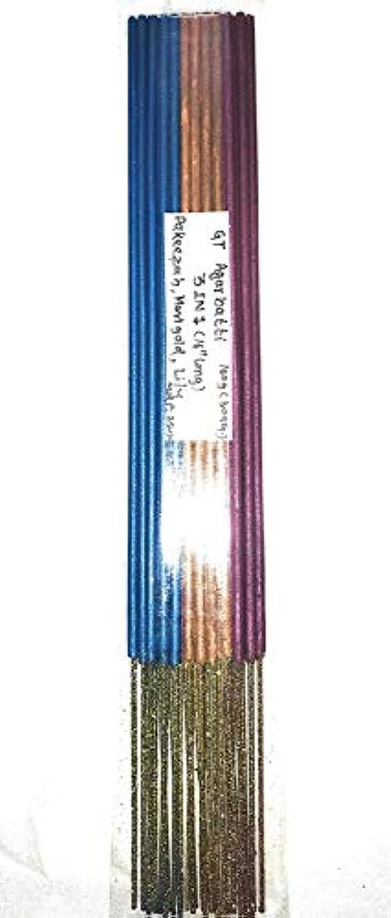 ゲージ袋局3 in 1. Lily, Marigold & Pakeezah. (16 Long). A Premium Quality Incense stick-160g (30 Sticks)