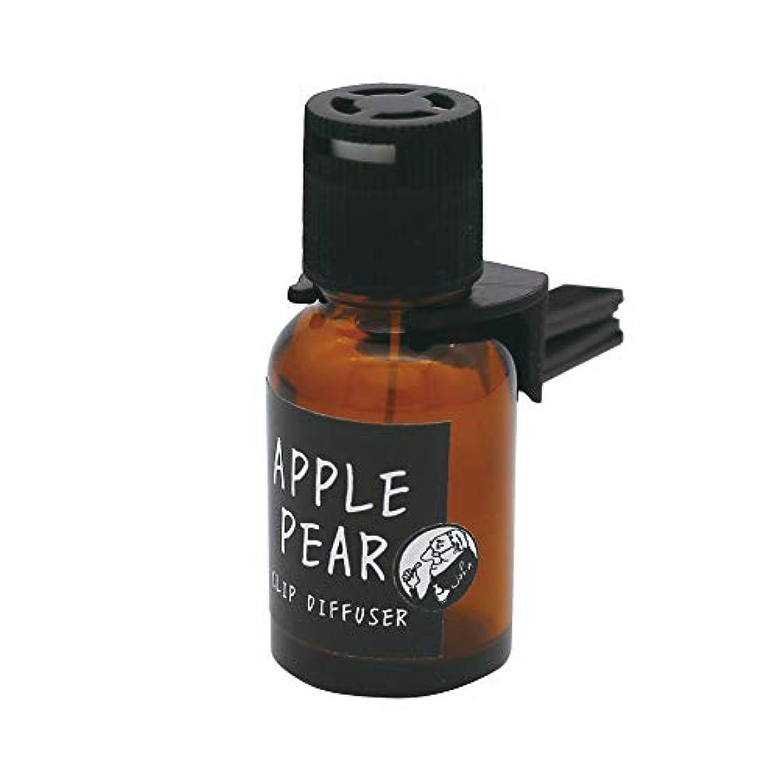 線フランクワースリーもノルコーポレーション 車用 芳香剤 ジョンズブレンド クリップディフューザー アップルペアの香り 18ml