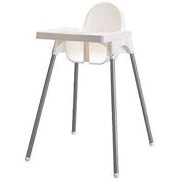 IKEA(イケア) ANTILOP 49872949 ハイチェア トレイ付, シルバーカラー