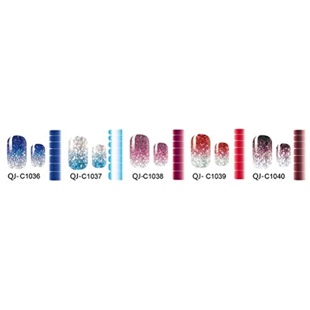 森リットル賢明なBeaupretty 5枚フルネイルアートポーランドステッカーシニーグリッターデザインネイルポリッシュラップストリップ用女性女の子