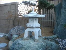 雪見灯篭(1.5尺・角型)【御影石】