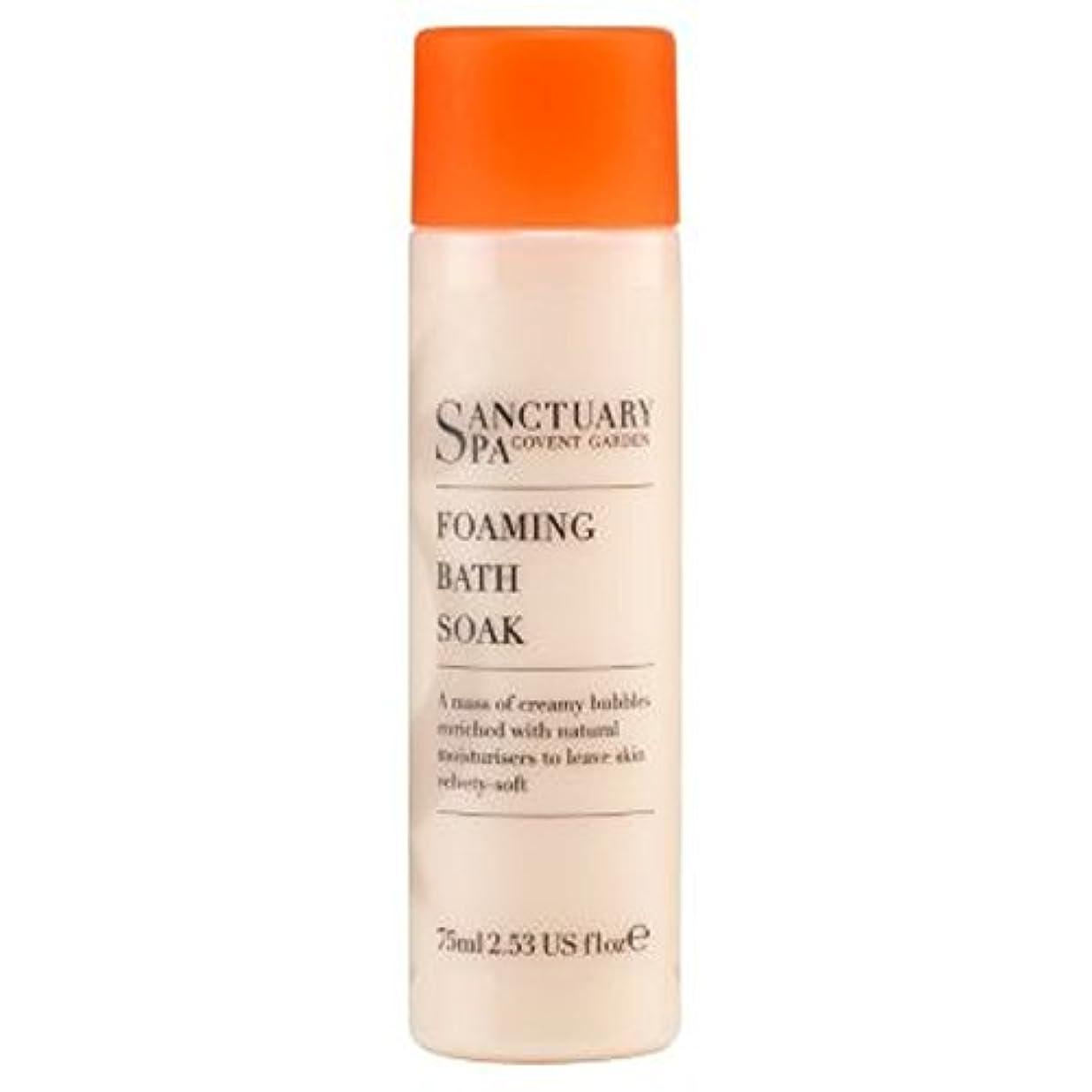声を出してレンジ蒸し器Sanctuary mini Foaming Bath Soak 75ml - 聖域ミニ75ミリリットルを浸し風呂発泡 (Sanctuary) [並行輸入品]