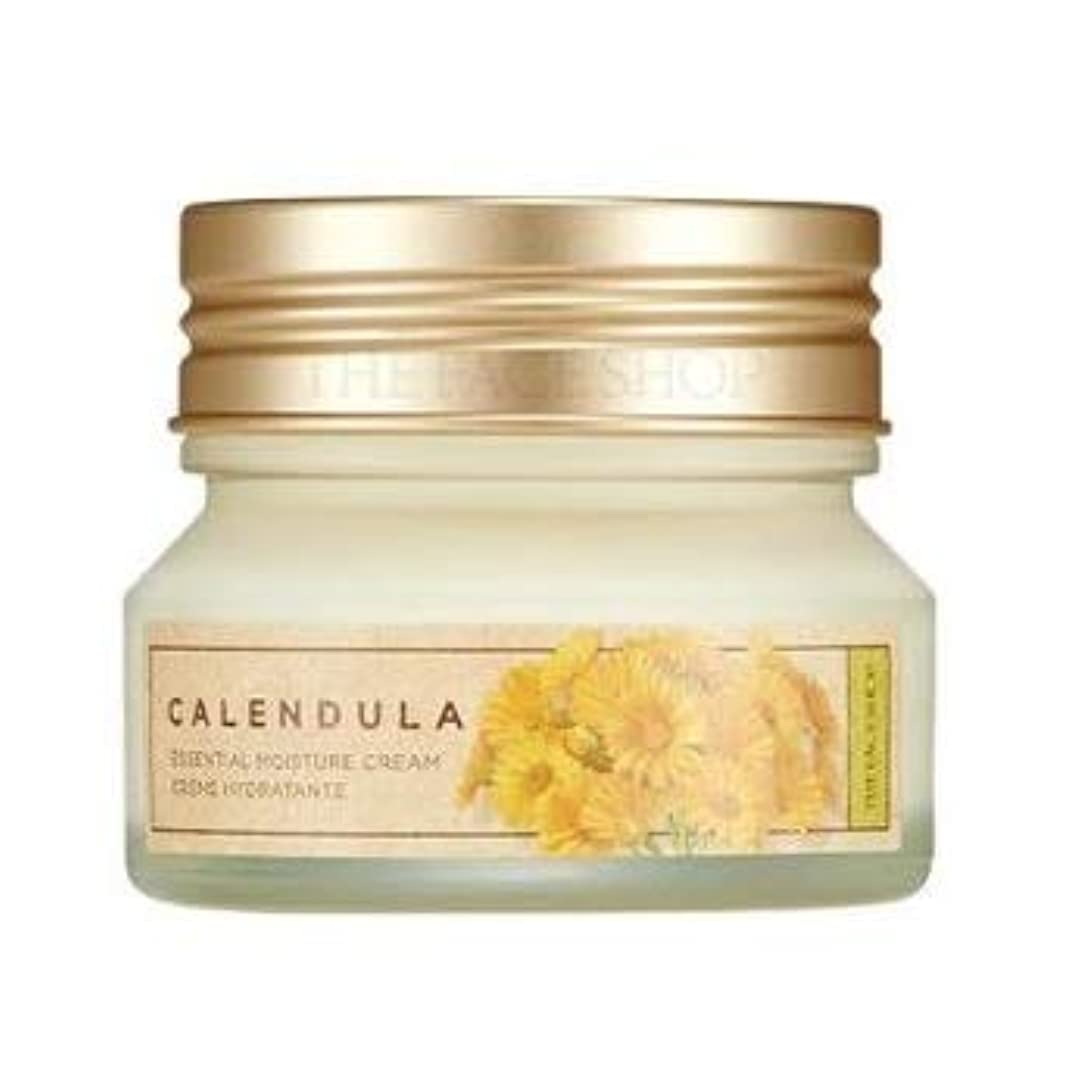 絡み合い見通し部THE FACE SHOP Calendula Essential Moisture Cream ザフェイスショップ カレンデュラ エッセンシャル モイスチャー クリーム [並行輸入品]